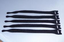Klitterband cabel wrap / kabel binder zwart  12 stuks