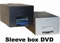 Sleeve box dvd 125 zwart incl 75x4510